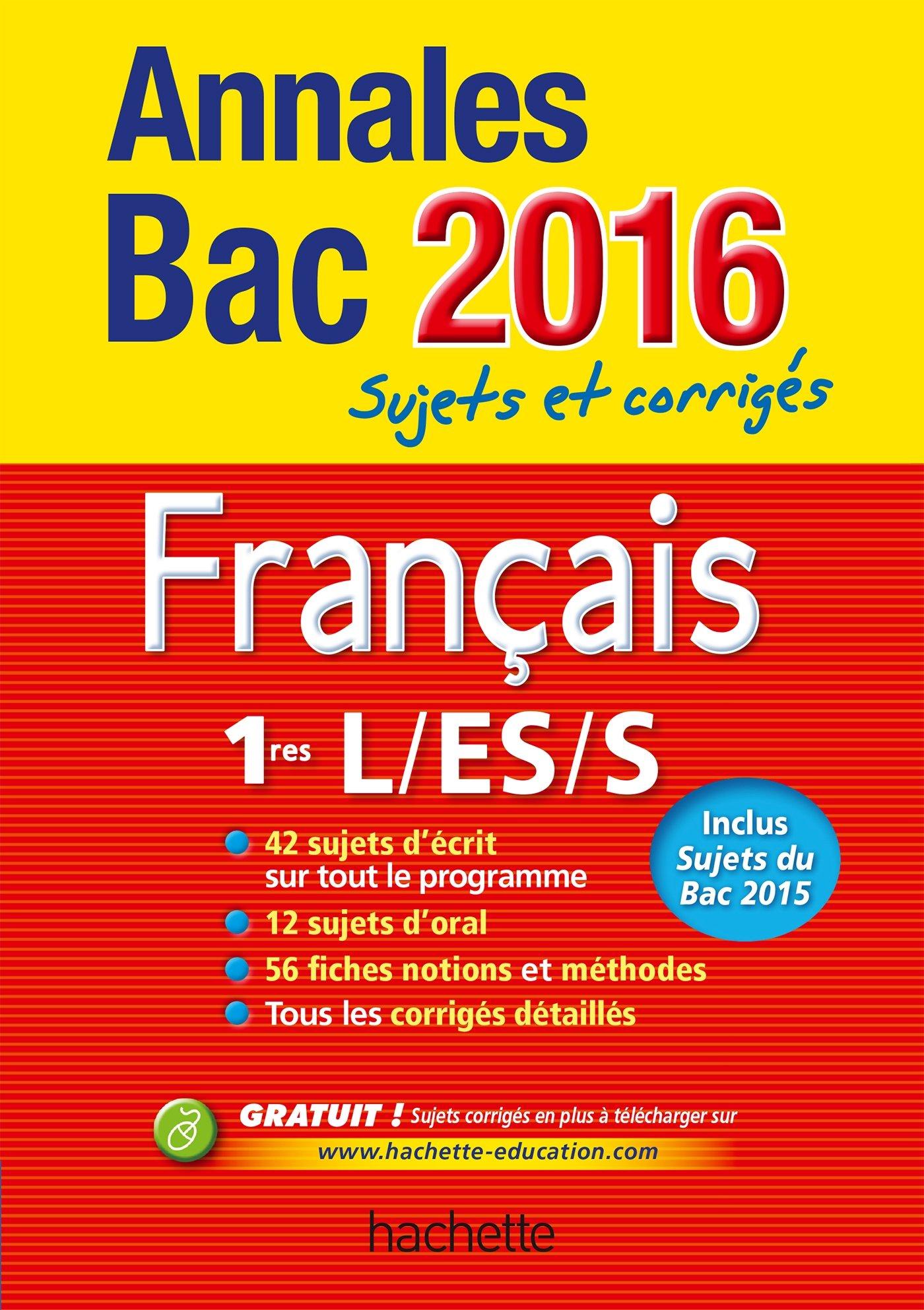Annales 2016 Français 1Res (Annales du Bac): Amazon.es: Isabelle Lisle (de), Sylvie Beauthier, Éric Le Grandic: Libros en idiomas extranjeros