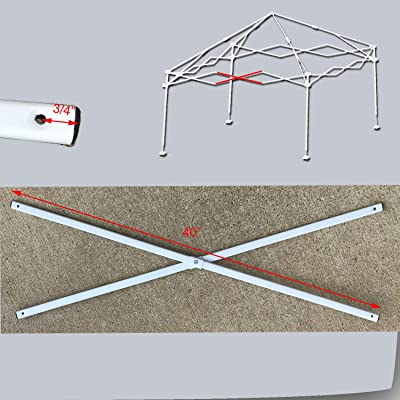 "Ozark Trail First Up 10 X 10 Canopy Middle Truss BAR 40"" Replacement Parts White : Garden & Outdoor"