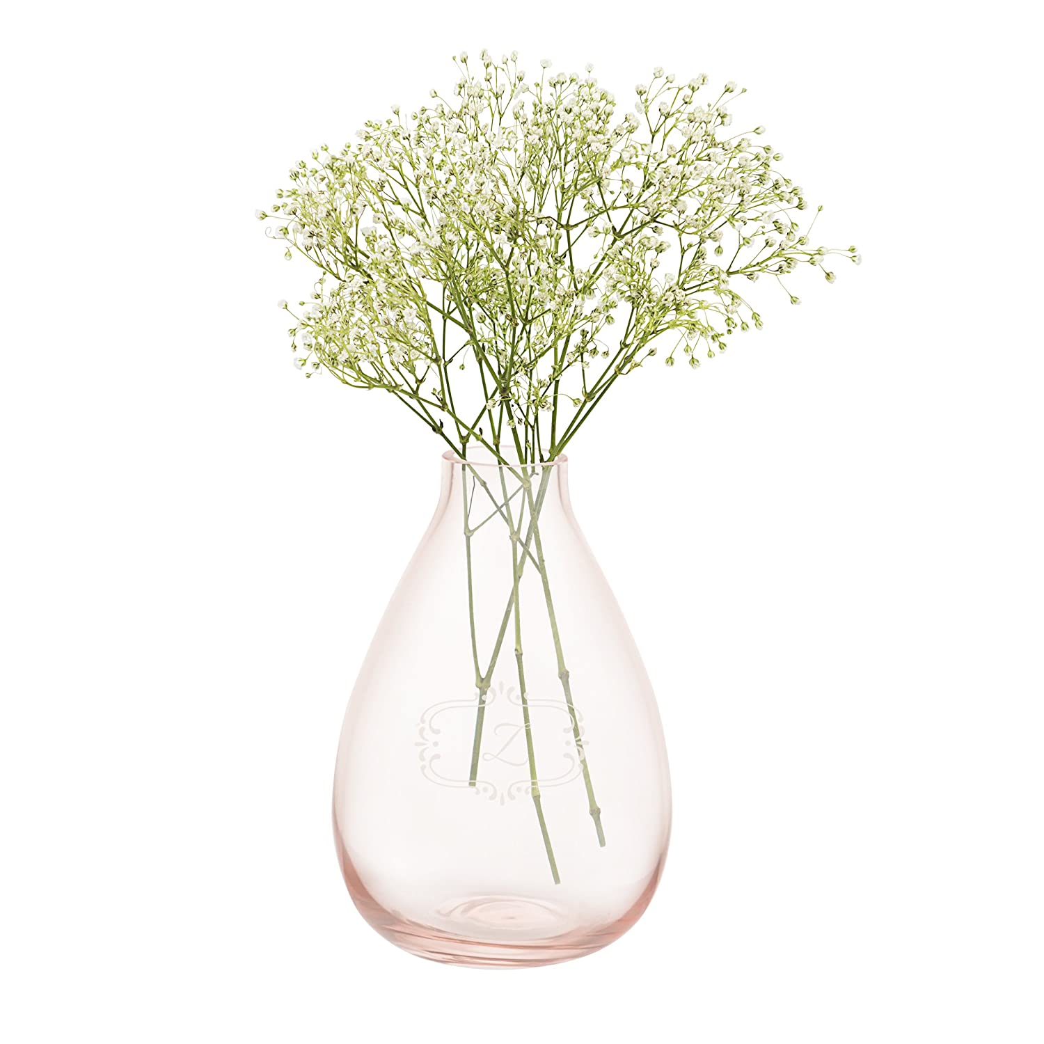 Clear Cathys Concepts Personalized Glass Vase