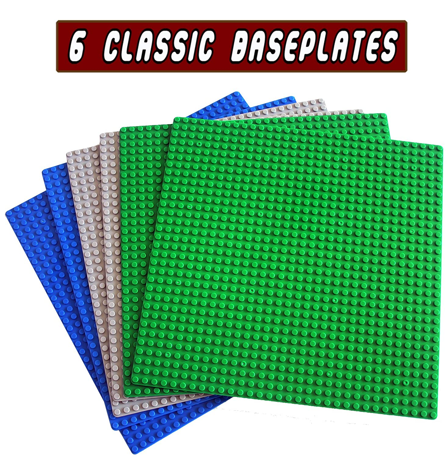 "Classic Building Base Plates 10"" x 10"" Original Baseplate - Compatible with All Major Brands (6PC Mixed) Review"