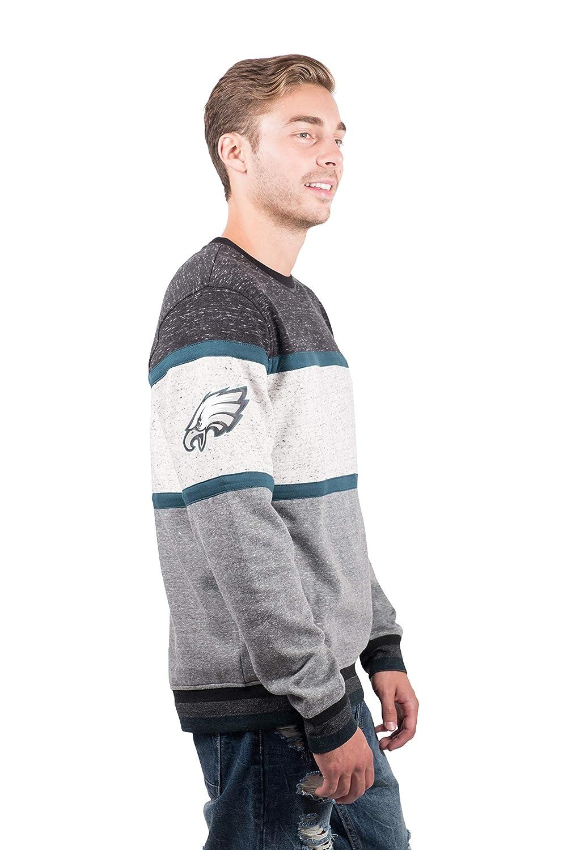 Ultra Game NFL Mens Fleece Sweatshirt Long Sleeve Shirt Block Stripe