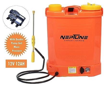 NEPTUNE SIMPLIFY FARMING Knapsack Battery Operated 16L Double Pump Garden Sprayer BS-13-Plus
