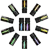 Essential Oils Set, Anjou Top 12 100 Pure Aromatherapy Essential Oil Kit, 12 x 5 ml (Lavender, Sweet Orange, Peppermint, Tea Tree, Eucalyptus, Lemongrass, Bergamot, Frankincense etc.)