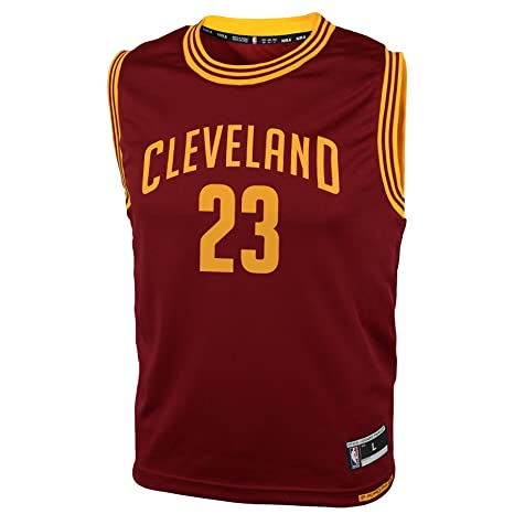 NBA Youth 8-20 Cleveland Cavaliers JAMES Replica Road Jersey-Burgundy-S(