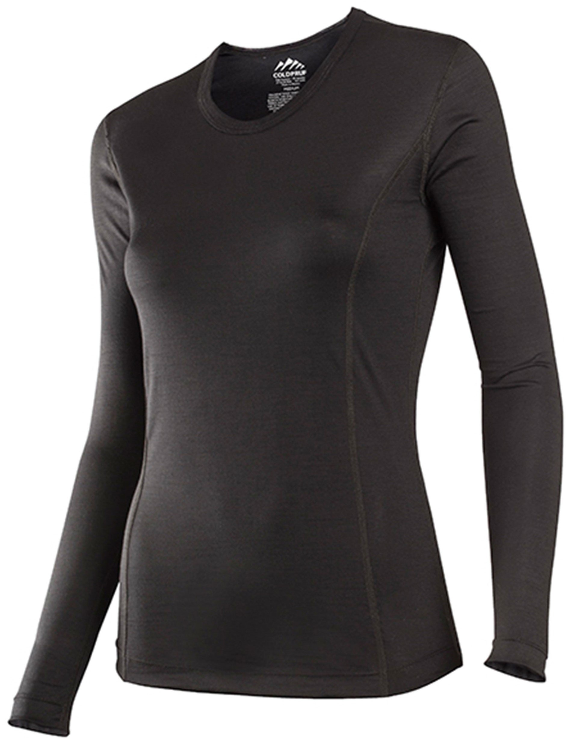 ColdPruf Women's Classic Base Layer Long Sleeve Crew Neck Top, Black, XX-Large