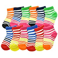 Angelina Dozen-Pack COTTON Low Cut Socks
