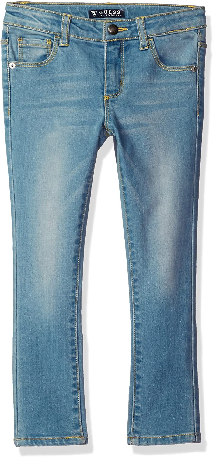GUESS Girls Little Skinny Power Stretch Denim 5 Pocket Jean Selma Wash