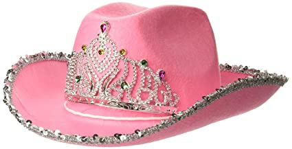 b99824e85ca8f Image Unavailable. Image not available for. Color  Loftus International  Rodeo Queen Sequins   Tiara Cowgirl Hat Pink One Size ...
