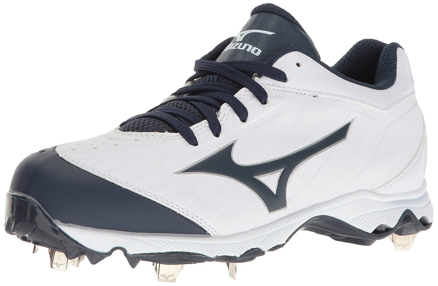 Mizuno Womens 9-Spike Advanced Sweep 3 Low Top Lace Up Baseball Shoes B01HQE2ERO 8.5 C/D US|ホワイト/ネイビー ホワイト/ネイビー 8.5 C/D US