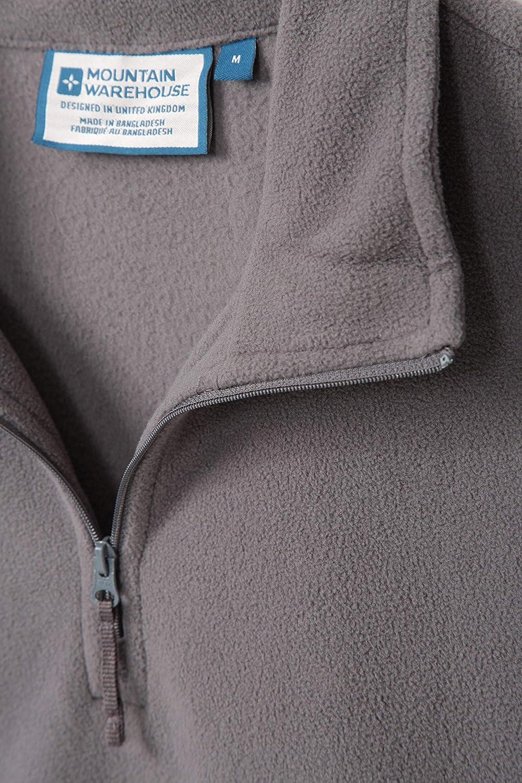 Mountain Warehouse Polaire Hommes Camber - Légère, Veste Respirante, séchage Rapide, Anti-Boulochage, Ventilation supplémentaire - Parfaite pour Marcher Gris