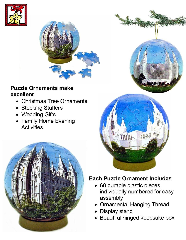 amazon com esphera 360 san diego temple puzzle ornament home kitchen