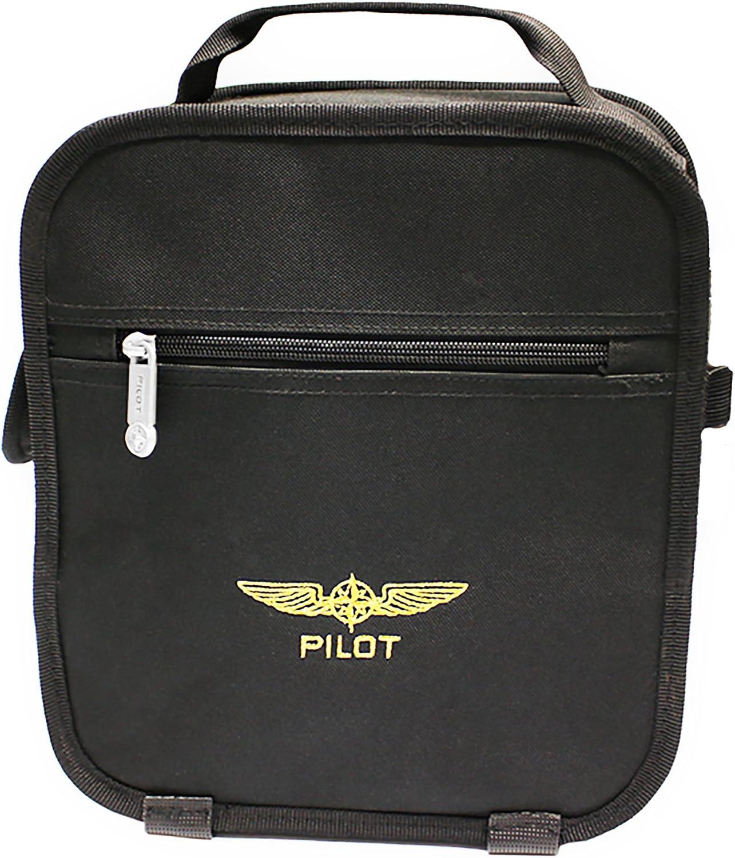 Bolsa para auriculares de aviación piloto Negra-(1JW6)