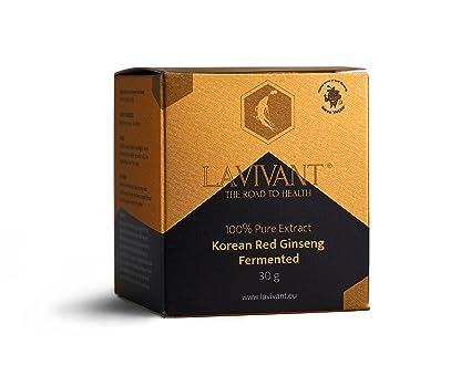 Extracto de ginseng rojo coreano fermentado, 110 mg/g, 30 días