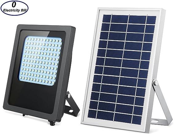 Solar Lights Outdoor 120LED Solar Flood Light Weatherproof Solar Powered  Lights Solar Flood Lights Outdoor Auto