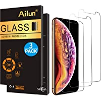 Ailun Screen Protector Compatible iPhone Xs, iPhone X, iPhone 10,[3 Pack],2.5D Edge Tempered Glass Compatible iPhone X/10/Xs[5.8inch],Anti-Scratch,Case Friendly,Siania Retail Package