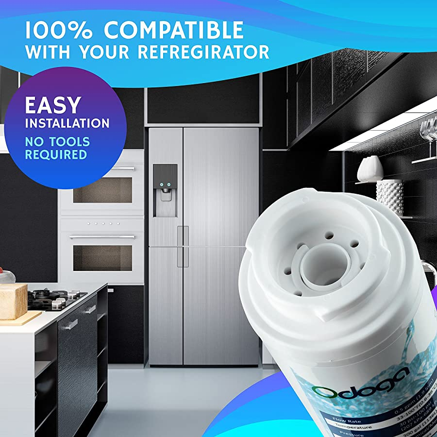 1 Pack Water Filter Compatible Kitchenaid Kfcs22evms2