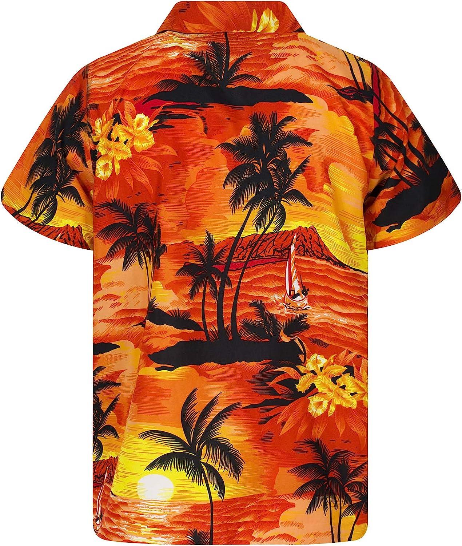 Camisa Hawaiana para Hombre Funky Casual Button Down Very Loud Manga Corta Unisex Surf