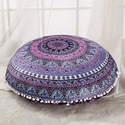 Amazon Sleepwish Large 18 Round Pillow Cover Boho Mandala