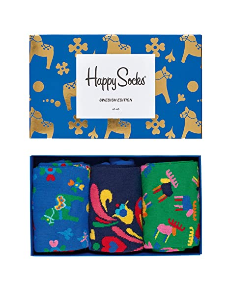 Happy Socks Swedish Edition Gift Box, Calcetines para Hombre, Multicolor, 41-45