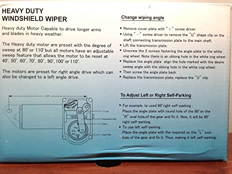 Marine barco resistente limpiaparabrisas motor 110 DEG ajustable mango de 1,5 cm dos velocidad: Amazon.es: Deportes y aire libre