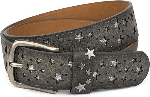 styleBREAKER - Cinturón - Estrellas - para mujer