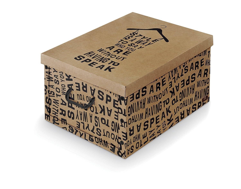 Domopak Living 8001410072504/Caja de con Asas Kraft Papel cart/ón 50/x 39/x 24/cm marr/ón