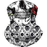 Skull Face Mask Bandana, Motorcycle Face Mask for Men Women, Skeleton Half Face Mask Sun UV Dust Wind Protection…