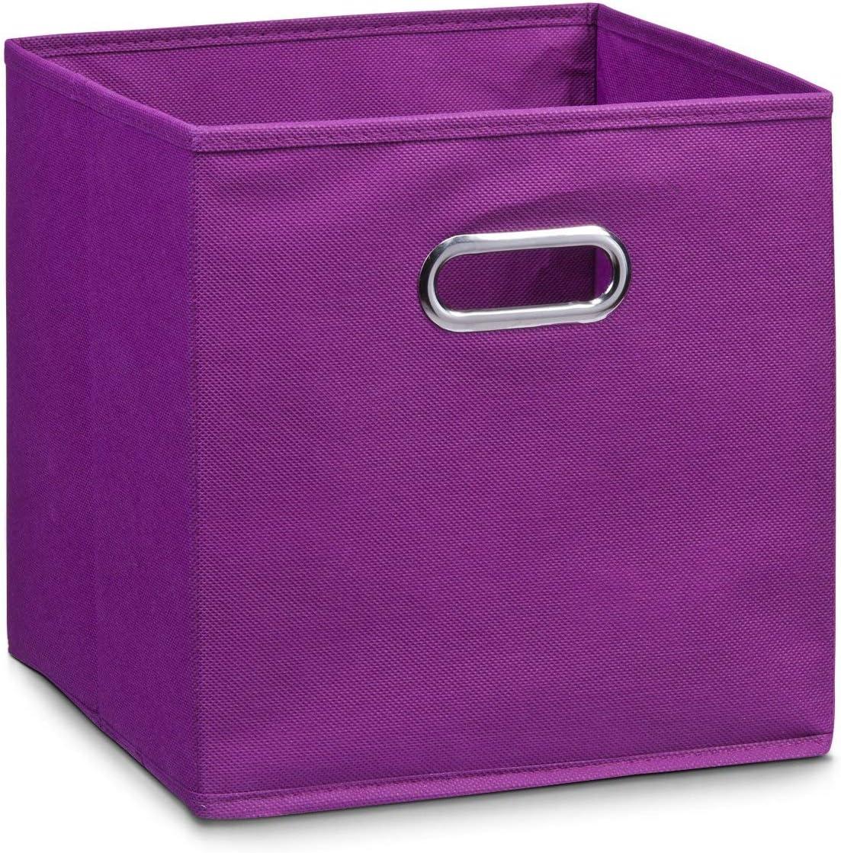 Zeller 14135 - Caja de almacenaje de tela, plegable, 28 x 28 x 28 cm, color morado