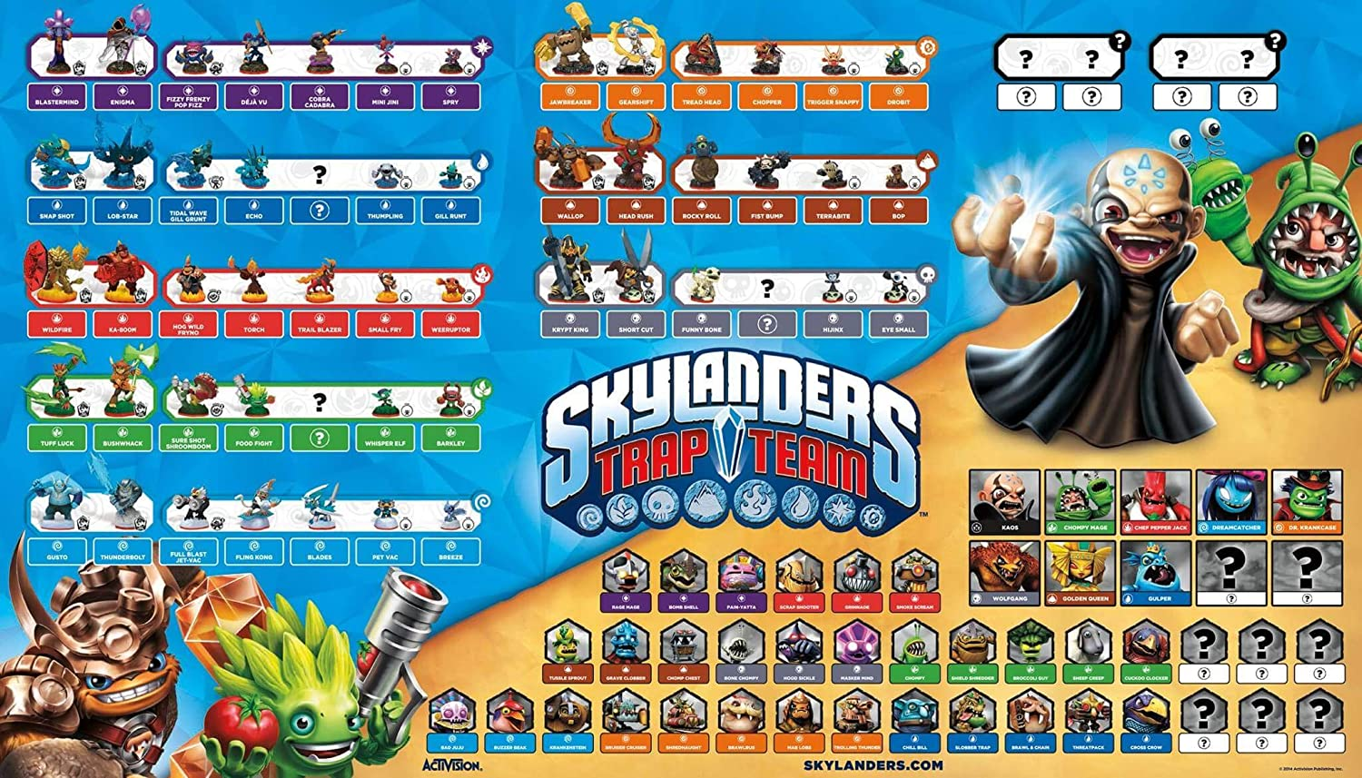 Skylanders Superchargers Jump And Run Video Game Poster Print 61x91,5