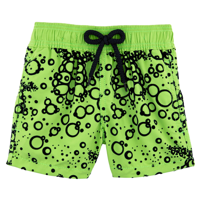 Vilebrequin - Flocked Bubbles Turtles Boy Swimwear - Boys - 12 years - Wasabi by Vilebrequin