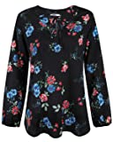STYLEWORD Women's Long Sleeve Casual Summer Shirt Blouse Tops