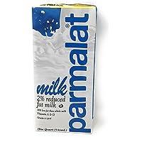 Parmalat 2 % Reduced Fat Milk 1 Qt (Pack of 6)