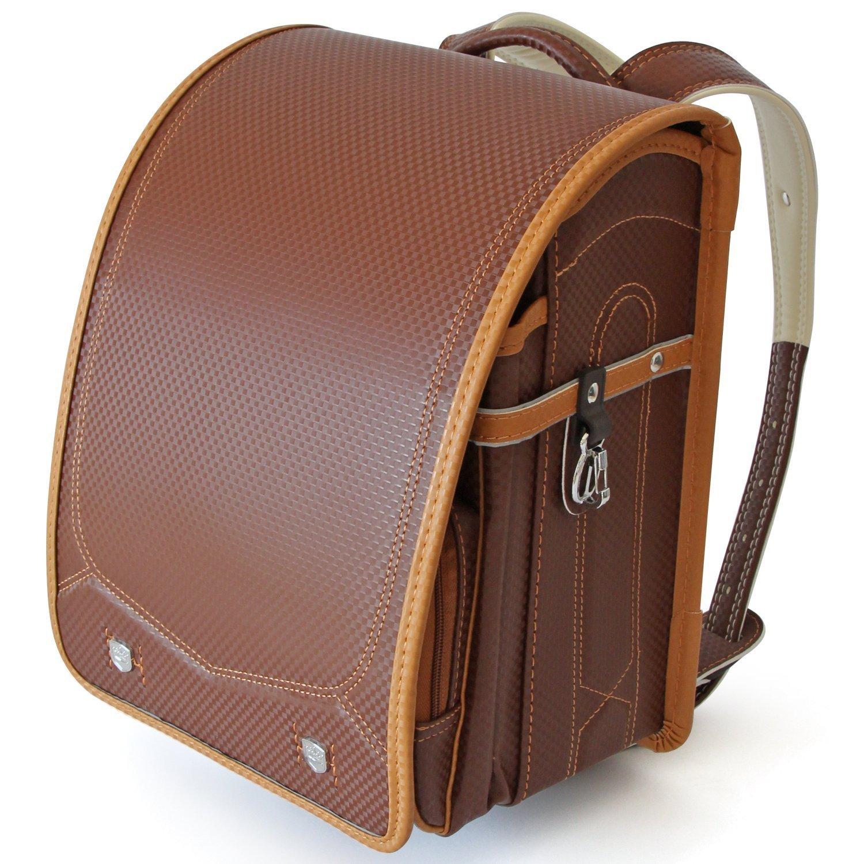 Ransel Randoseru upscale satchel Japanese school bags for girls and boys (NEW-Brown)