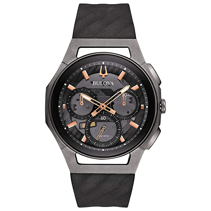 cc1f3f61489c Amazon.com  Bulova Men s Curv - 98A162 Black Stainless Steel Titanium One  Size  Watches