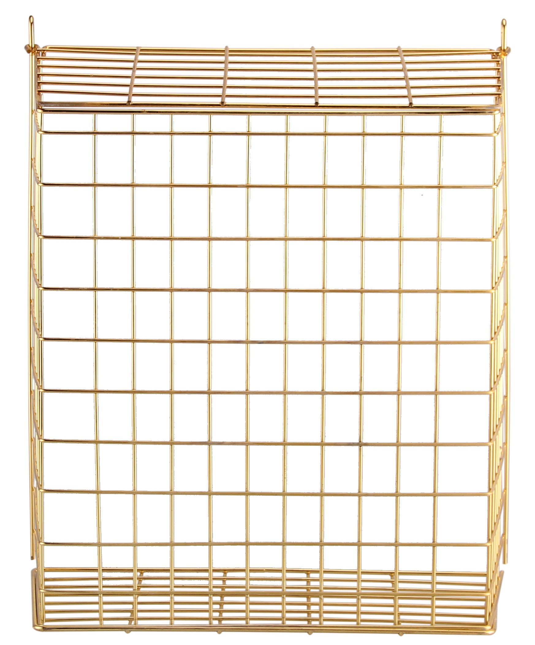 Buckingham 30053 Chrome Plated Pre-Assembled Front Door Letter Cage/Post Box, Brass