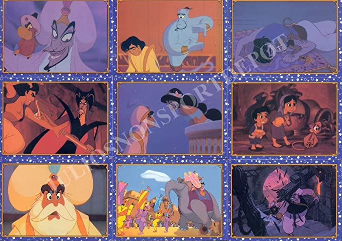 Disney Aladdin from skybox 1993 90 base card set