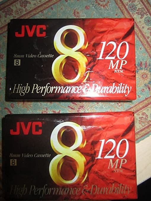 Amazon com : JVC 120-Minute Standard 8mm Camcorder Tapes (2