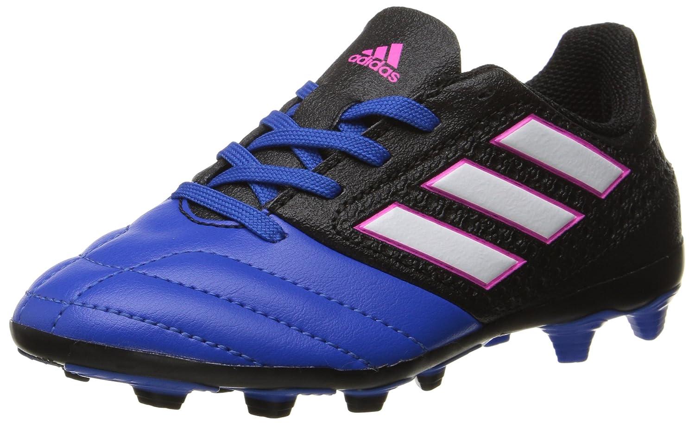 Adidas Performance Kids' Ace 17.4 J Firm Ground Soccer Cleat, schwarz Weiß Blau, 3.5 M US Big Kid