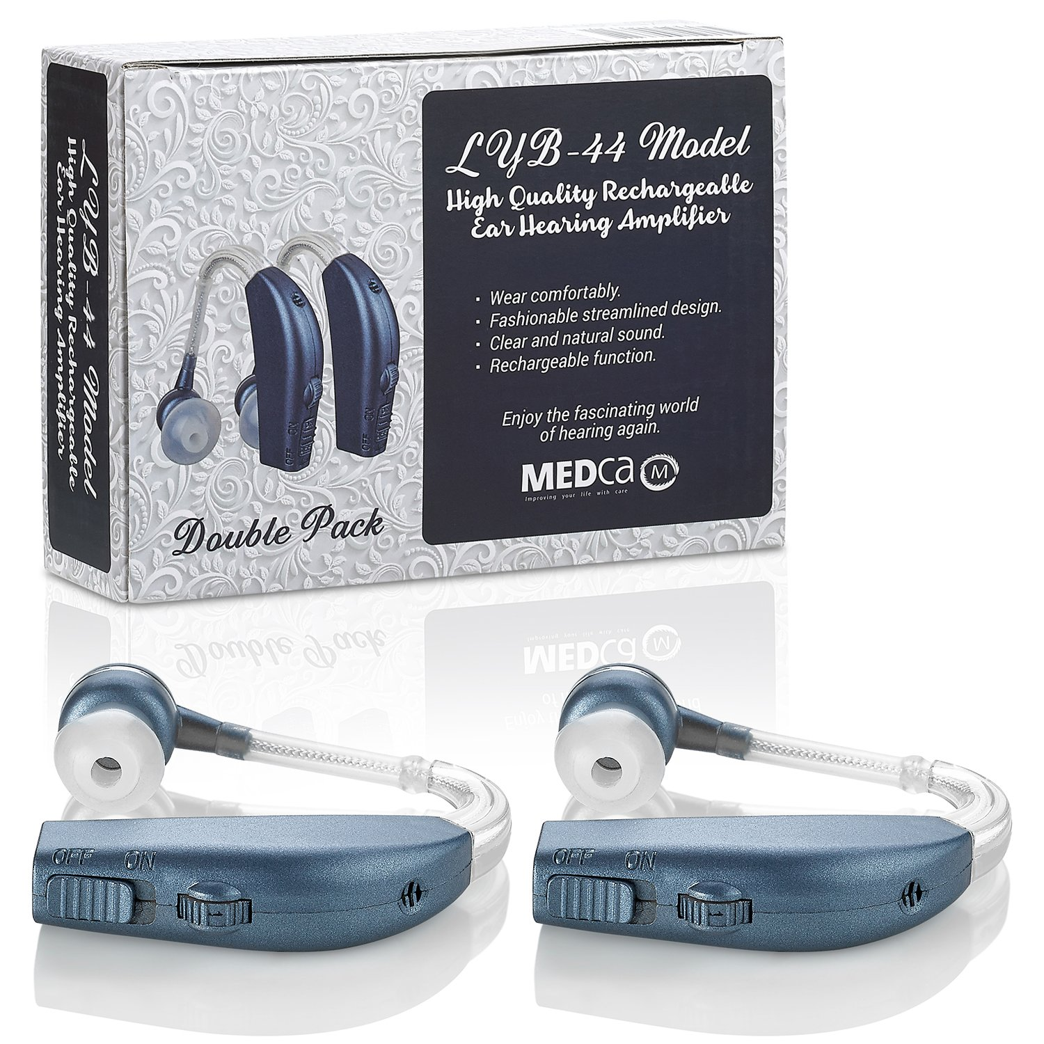 Digital Hearing Amplifier Pair Of 2 Personal Living Aids Amplifiers Accessories Enhancement Sound Rechargeable With All Day