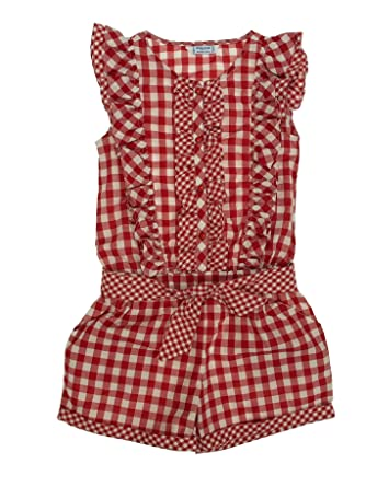 Geometric Romper for Girls Mayoral 3800 Red