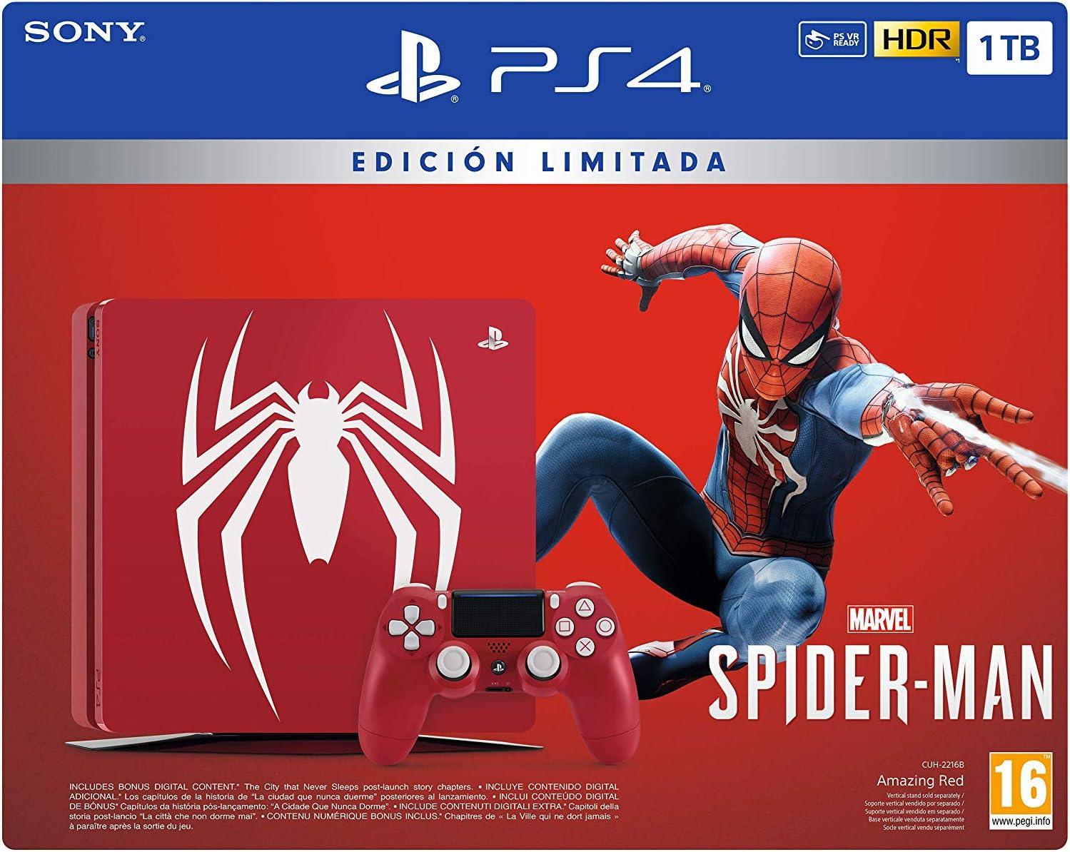PlayStation 4 (PS4) - Consola de 1 TB - Edición Especial + Marvels Spider-Man: Sony: Amazon.es: Videojuegos