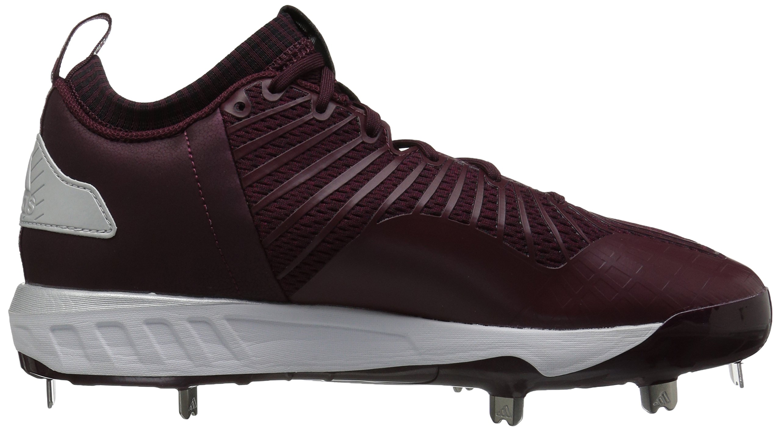 adidas Men's Freak X Carbon Mid Baseball Shoe, Maroon/White/Metallic Silver, 7.5 Medium US by adidas (Image #7)