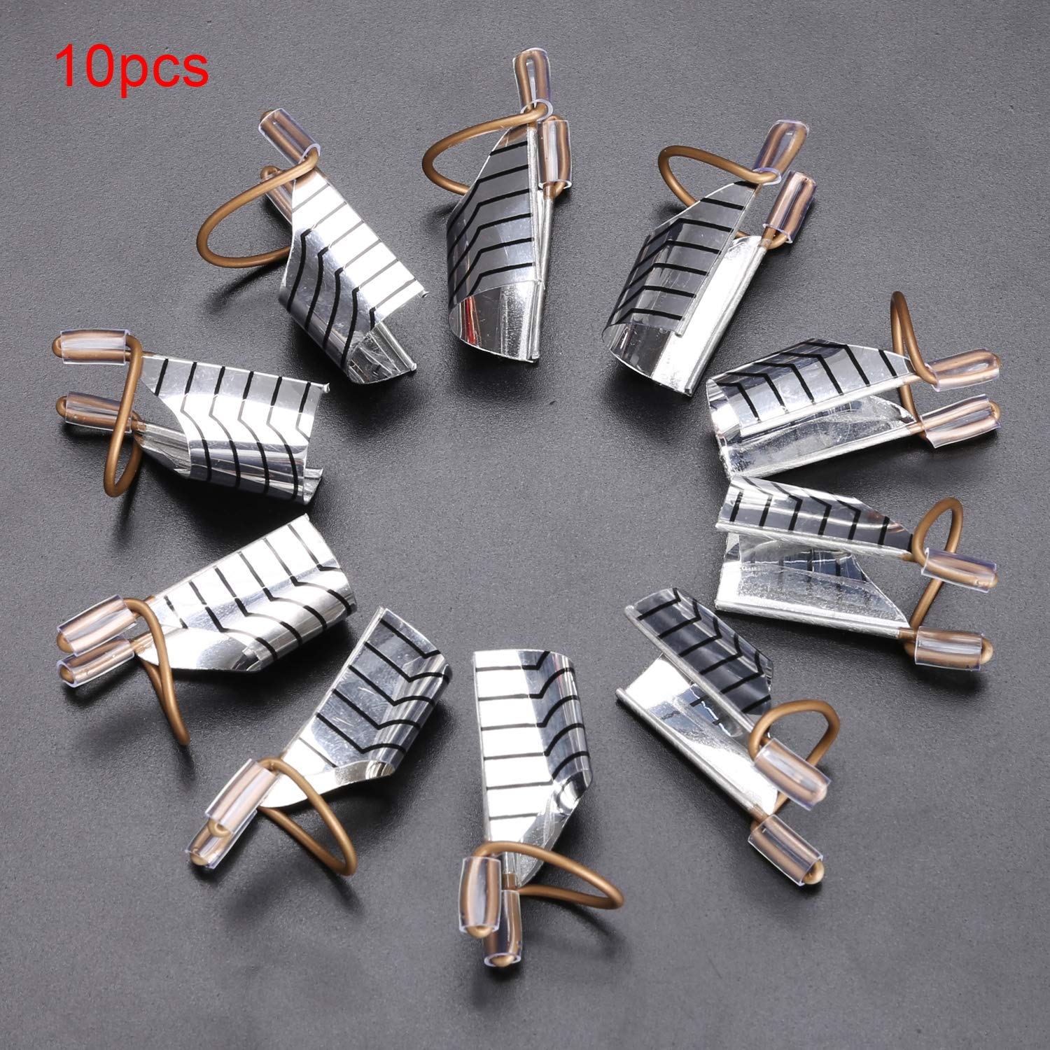 Kikole 10pcs Reusable Nail Art Extension Guide Forms UV Gel French Acrylic Tips Protector Tool