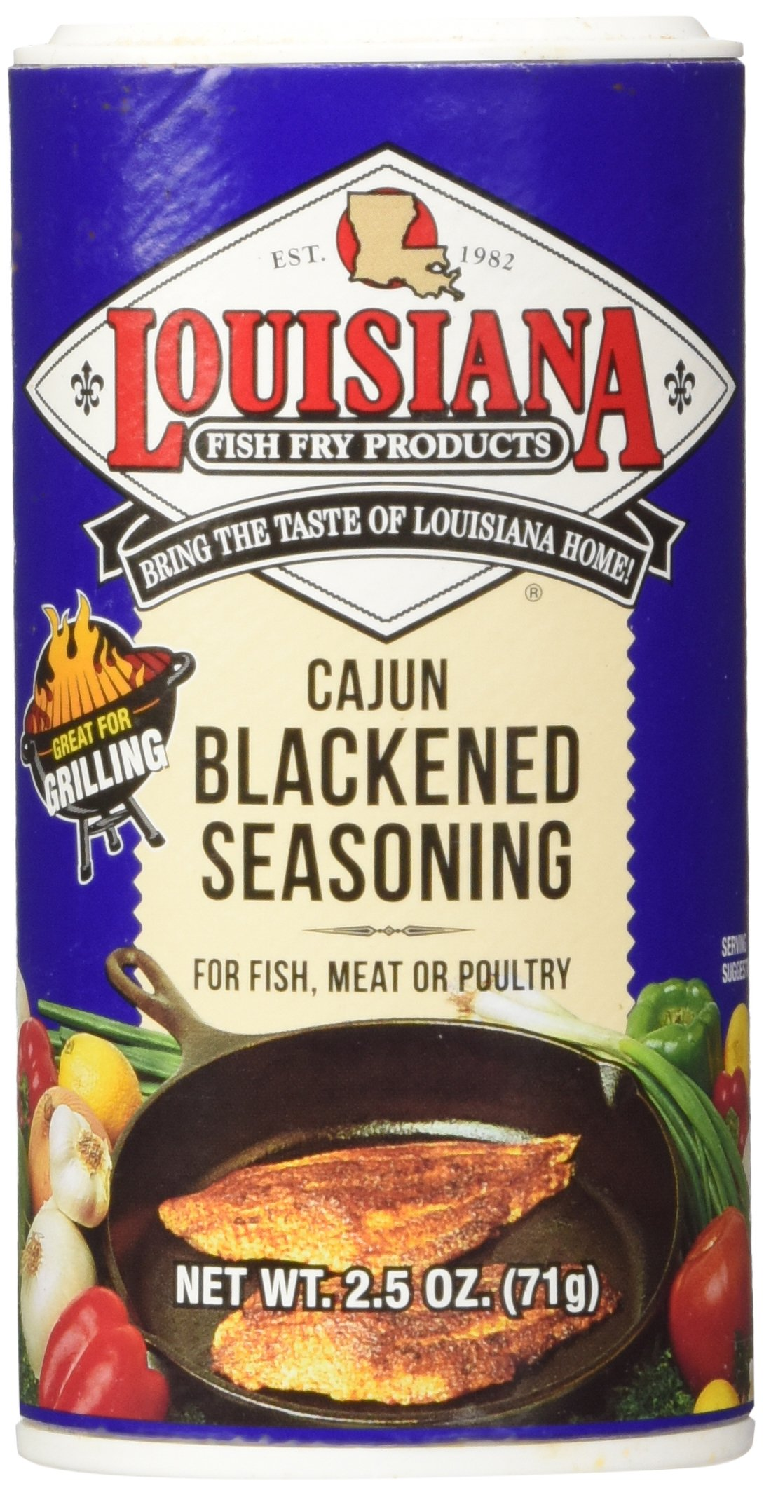 Louisiana Cajun Blackened Seasoning (2.5 oz Shakers) 2 Pack