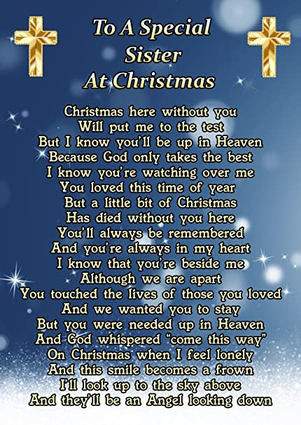 To A Special Sister At Christmas Memorial Graveside Funeral Poem