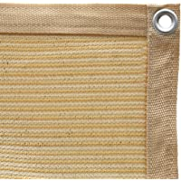 Shatex Shade Fabric for Pergola/Patio/Garden Shade Panel with Grommets 6x16ft Wheat