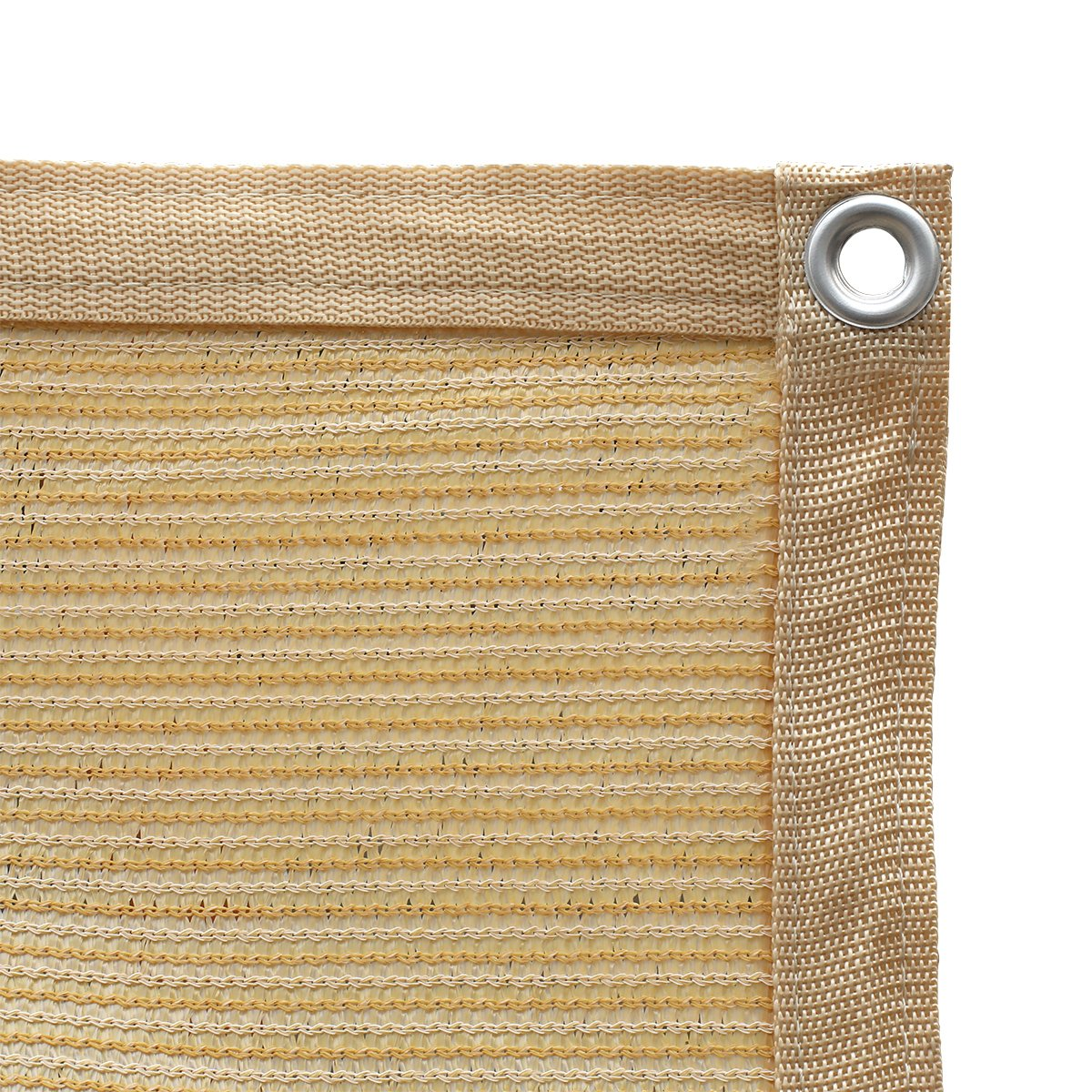 Shatex 90% Shade Fabric Sun Shade Cloth with Grommets for Pergola Cover Canopy 12' x 12', Wheat by Shatex