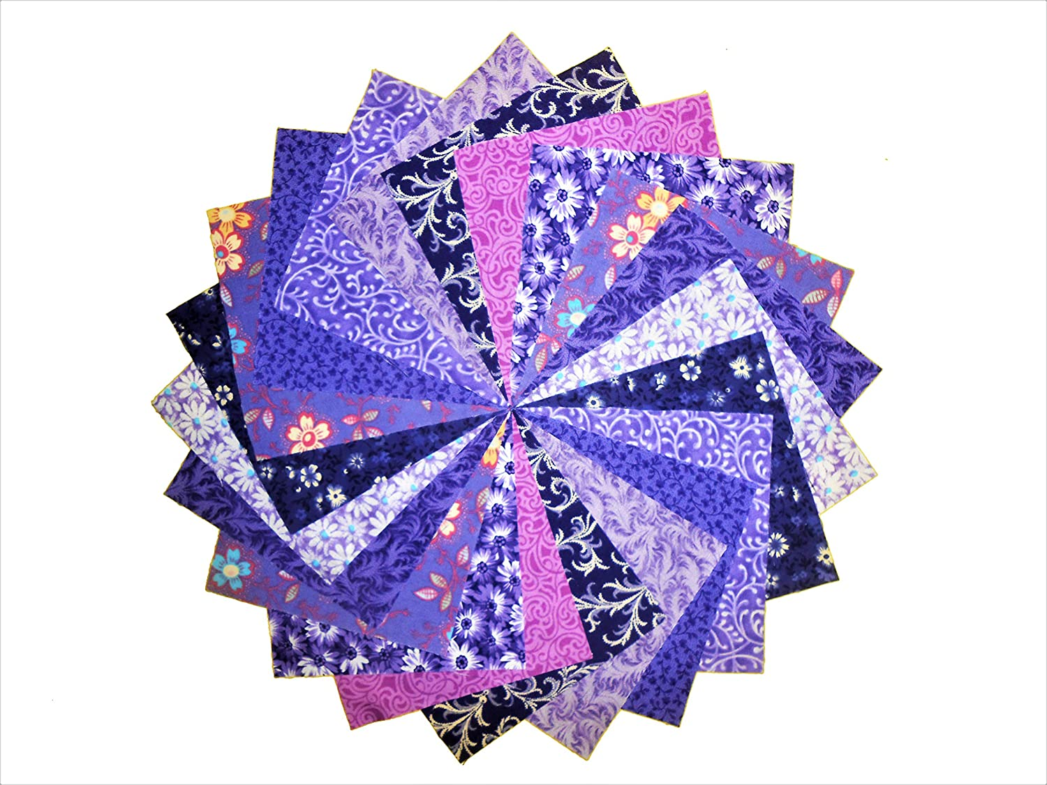 40 5 Twilight//shades of Purple and Blue Charm Pack-10 different patterns//colors-4 of each
