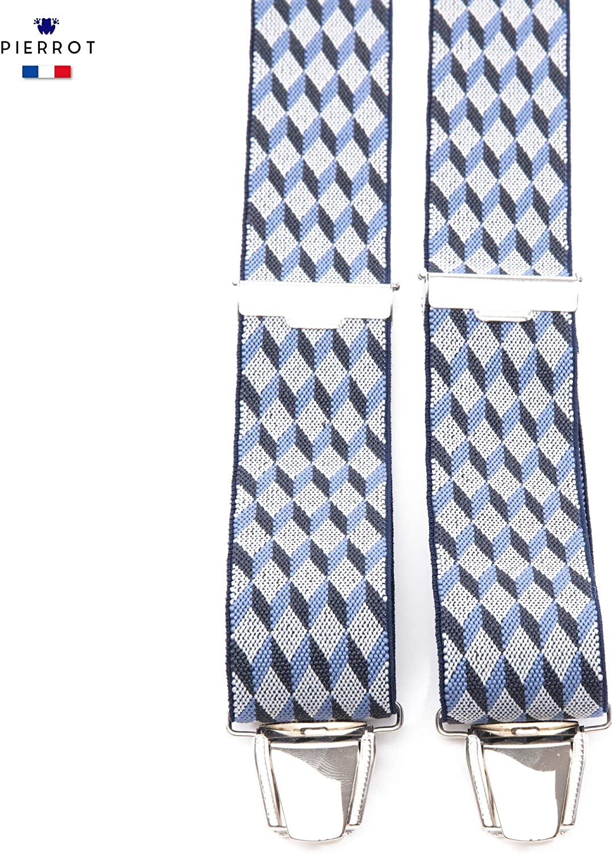 Breit und Vintage Lebenslange Garantie und Hergestellt in Frankreich 29 Farben Erh/ältlich PIERROT Hosentr/äger Herren Einstellbare Gr/ö/ße Bis zu 130cm