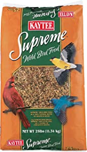 Kaytee Pet Products Supreme Wild Bird Pet Food, 25-Pound